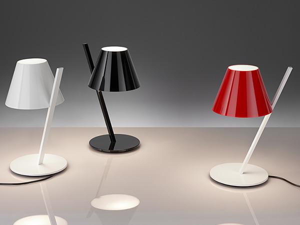 Artemide castore lampada da tavolo di design in vetro soffiato